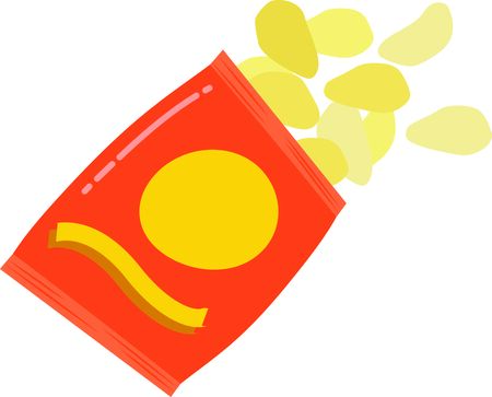 crisp: Snack on these addictive chips.  Get this appetizing design on kitchen linen, chef coats, apron, hats and more.