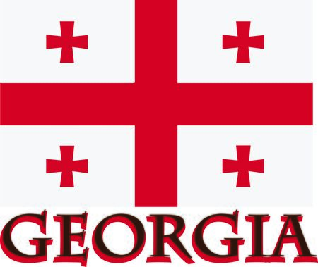 This Georgia flag is a stylish way to show off your pride and patriotism on clothing, hats, totes and more.