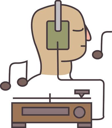 발을 두드리는 음악을 들어보십시오. 이 피치 완벽한 음악 노트 디자인은 음악 애호가를위한 프로젝트에서 훌륭합니다.