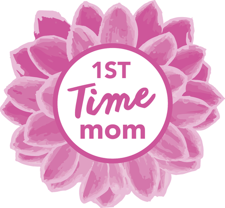 mamma: This heartwarming design will make a great keepsake for new moms on framed embroidery, t-shirts, sweatshirts, towels and more.