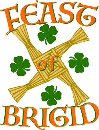irish culture: Celebrate Ireland and your Irish heritage with this great Saint Paddys Day design on your holiday projects!