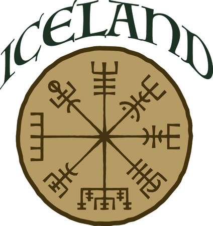 By far the most important symbol of Iceland, this is credited with magical effects and is perfect on framed embroidery, throw pillows and more!