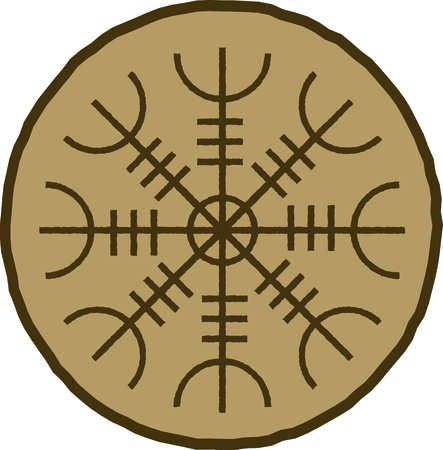 sigil: By far the most important symbol of Iceland, this is credited with magical effects and is perfect on framed embroidery, throw pillows and more!