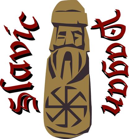 これらはすべてスラブ遺産のこの異教の戦士の刺繍デザインは遺産に示す誇りの方法です!