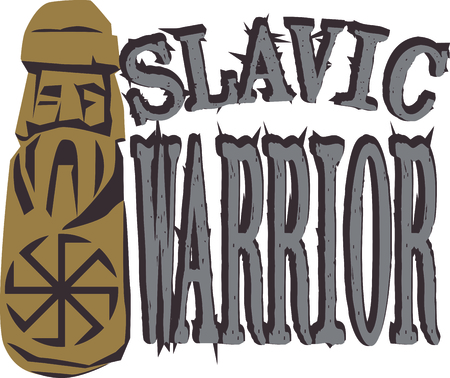 For all those of Slavic heritage, this Pagan Warrior embroidery design is a way of showing pride in the heritage!