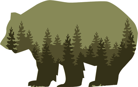pine forest: This majestic grizzly will make a stunning addition to any home decor or as a perfect gift for the wildlife lover!