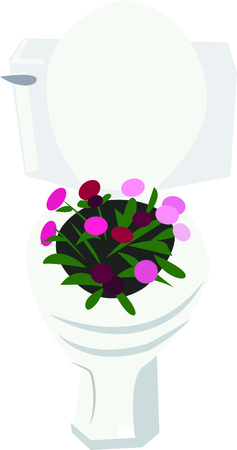 water closet: Flowers add unique style and cheer to any space.  Get the spirit of spring on your projects with this design.
