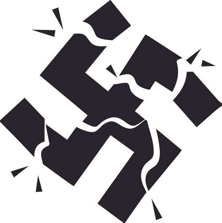 swastika: Take on fascism and racism from the ground up!  Display your responsibility to spread the word about equality, with pride, with this design on bags, banners, t-shirts and more.