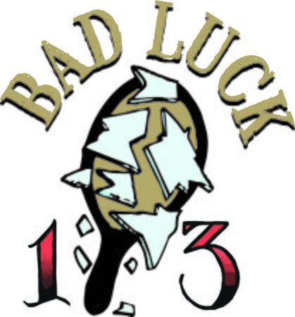 bad luck: Let go of superstitious belief systems and open your experience to something new and significant with this design on clothing, totes, framed embroidery and more!