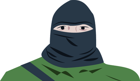 balaclava: Spark your imagination!  This whimsical design will be perfect on quilts, framed embroidery, throw pillows, clothing and more! Illustration