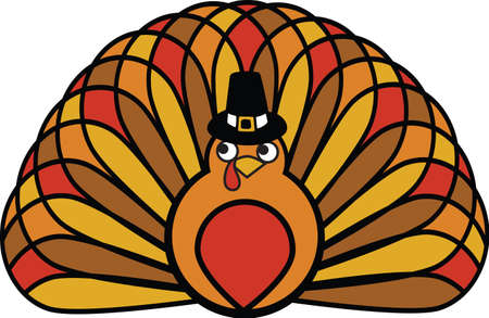 festive: Is your table ready for turkey dinner? This festive design is perfect on gifts, table runners, kitchen linens, home decor and on all things Thanksgiving! Illustration