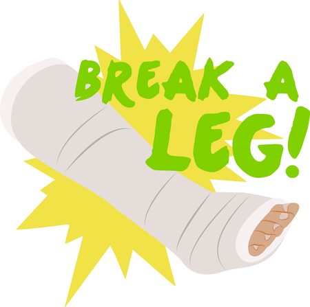 cast: Doctors, nurses and med students will enjoy this leg cast design. This will look great on t-shirts, banners, tote bags and more.
