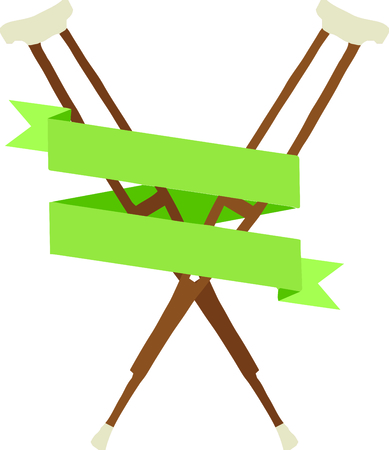 Doctors, nurses and med students will enjoy this crutches design. This will look great on t-shirts, banners, tote bags and more.