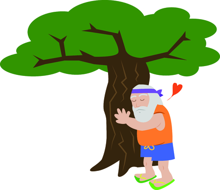 show off: Show off your love of nature with this tree hugger design. This will look great on t-shirts, hoodies, banners, tote bags and more.