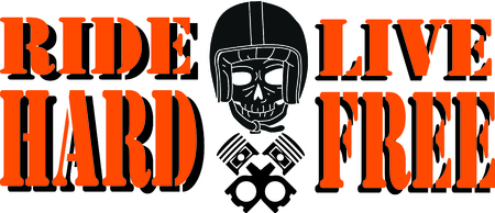 cranium: Bikers will love this awesome skull design. This will look great on t-shirts, hoodies, jackets, banners, tote bags and more. Illustration
