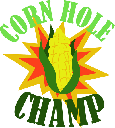 Show off your Hoosier pride with this neat ear of corn design. This will look great on t-shirts, hoodies, jackets, banners, tote bags and more. Ilustrace