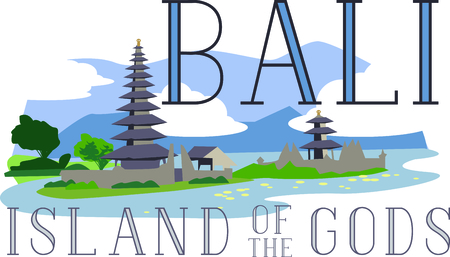 bali province: Show off your love of Bali with this beautiful design. This will look great on t-shirts, hoodies, jackets, banners, tote bags and more. Illustration