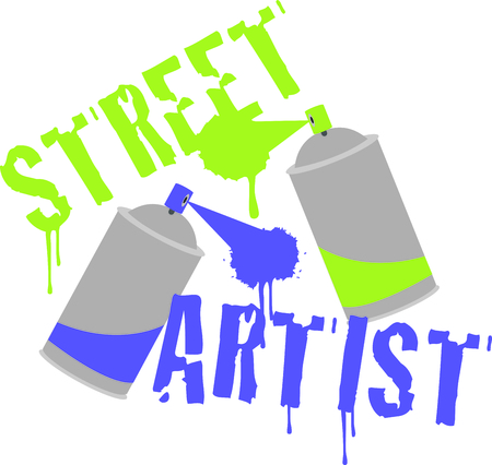 Street artists will love this graffiti cans design. This will look awesome on t-shirts, hoodies, jackets, banners, tote bags and more.