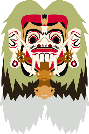 Personalize your project with this neat Rangda design. This will look great on t-shirts, hoodies, banners, tote bags and more. Illustration
