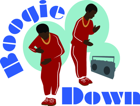 Boogie Down in style with this dancing robot boys design. This will look awesome on t-shirts, hoodies, banners, tote bags and more.