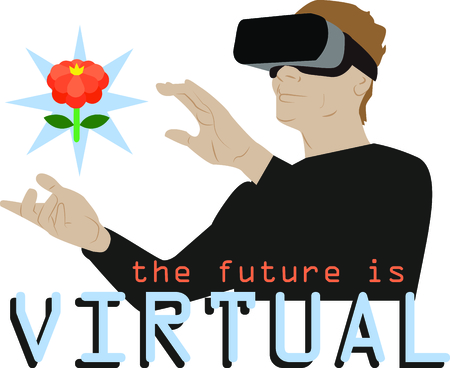Glance into the future with this neat virtual reality design. This will look great on t-shirts, hoodies, banners, tote bags and more. Stock fotó - 64732280