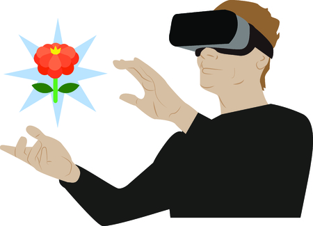 Glance into the future with this neat virtual reality design. This will look great on t-shirts, hoodies, banners, tote bags and more.