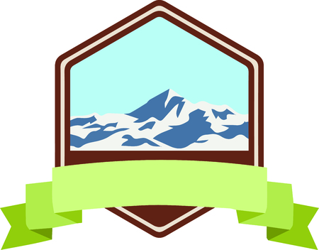 Personalize your project with this lovely Mount Everest design. This will look great on t-shirts, hoodies, banners, throw pillows, tote bags and more. Фото со стока - 64732404