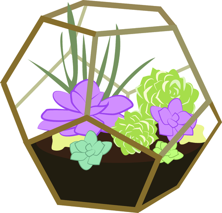 Add a little green to your favorite clothing and accessories with this lovely terrarium design.