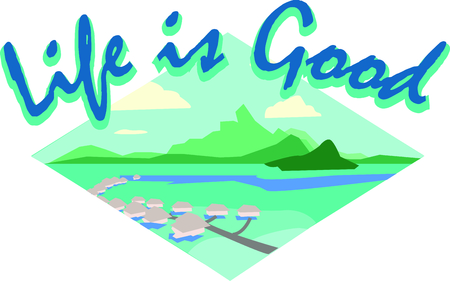 Show off your love of Tahiti with this beautiful island design. This will look great on t-shirts, banners, beach towels, tote bags and more. Illustration