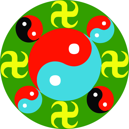 Personalize your project with this awesome yin yang design. This will look great on t-shirts, hoodies, banners, throw pillows, tote bags and more.