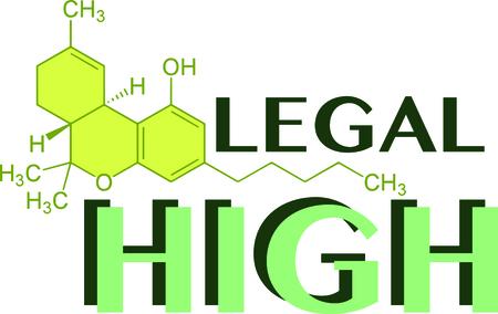 Cannabis fans zullen genieten van deze nette molecule ontwerp. Dit zal groot op t-shirts, hoodies, banners, tassen en nog veel meer. Stock Illustratie