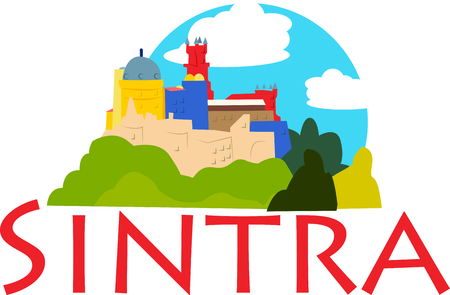 Show off your love of Sintra, Portugal with this neat design. This will look great on t-shirts, hoodies, banners, tote bags and more.