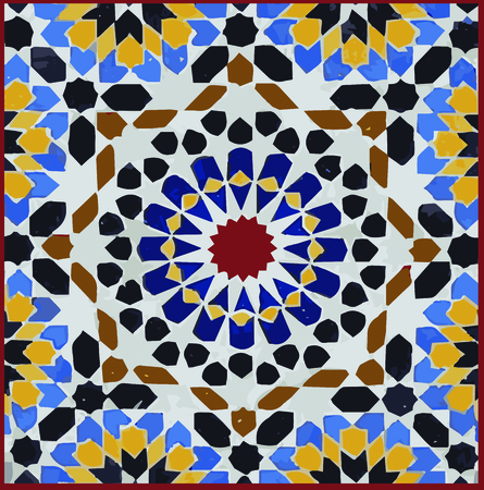 Personalize your project with this neat Moroccan Tile design. This will look great on placemats, quilts, hand towels, throw pillows, tote bags and more.  イラスト・ベクター素材