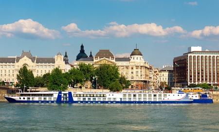 Big cruiser ship on the danube, Budapest, Hungary photo