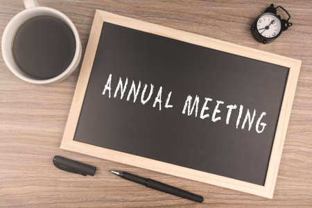 ANNUAL MEETING Stock Photo - 72809721
