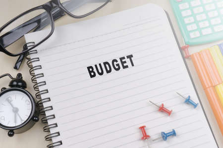 BUDGET. Business concept Stock Photo