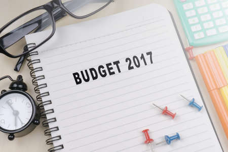 BUDGET 2017. Business concept Stock Photo