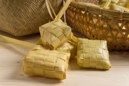 Ketupat (rice dumpling). Ketupat is traditional food during the festive season in South East Asia.