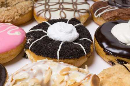Donuts in a box. Stock Photo