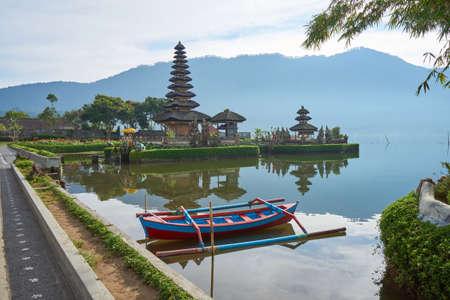 Pura Ulun Danu Bratan, Hindu temple one of famous tourist attraction in Bali, Indonesia.