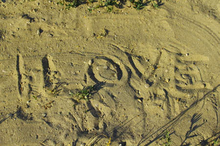 tender passion: Love written on the sand