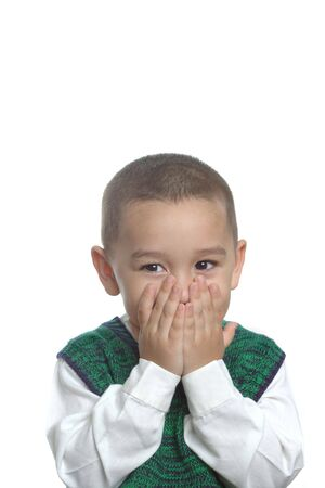 A young boy making a funny face Stock Photo - 617686