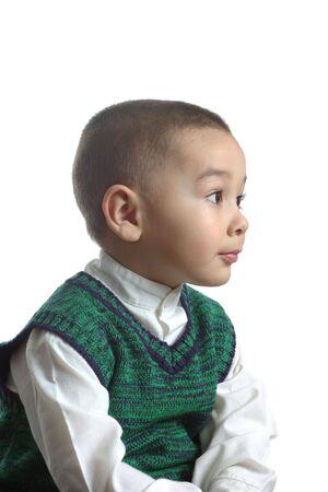 Boy wearing a green sweater Stock Photo - 625832