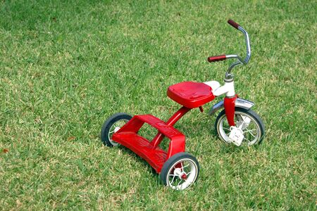 child's: A classic red childs tricycle
