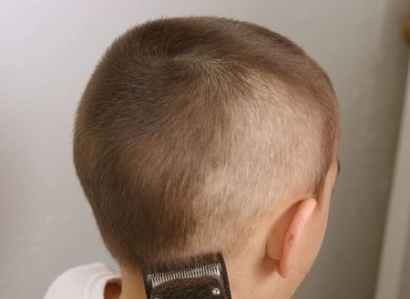 Closeup view of a haircutting session Stock Photo - 939123