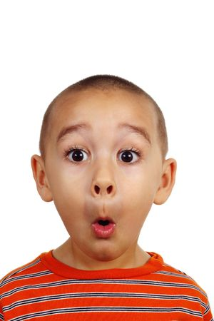 Portrait of a young boy's silly face Stock Photo - 1290707
