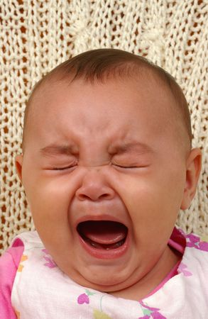 Cute baby girl crying Stock Photo - 2150898