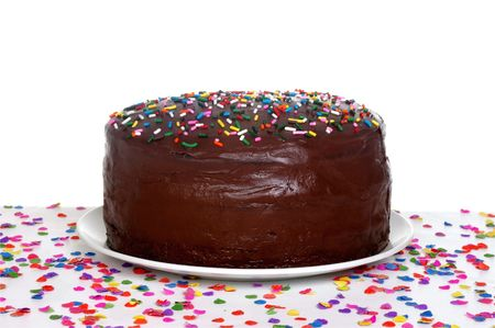cake with icing: Chocolate birthday cake