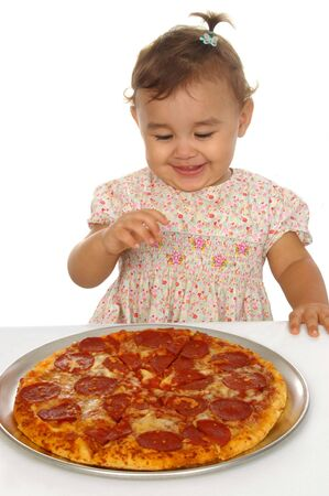 Kid and pizza Stock Photo - 3795062