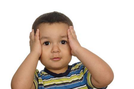 jongen geschokt of verrast 2 jaar oud